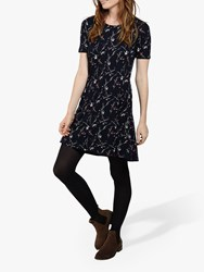 Fat Face Starling Floral Dress Navy