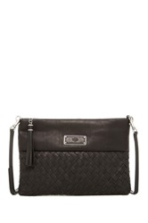 Ugg Mariana Woven Leather Clutch Black
