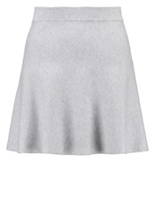 Noisy May Petite Nmkino Aline Skirt Light Grey Melange