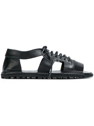 Marsell Lace Up Sandals Black