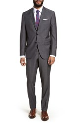 Ted Baker London Jay Trim Fit Solid Wool Suit Grey