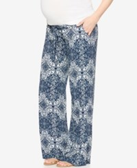 A Pea In The Pod Maternity Printed Wide Leg Soft Pants Paisley Print