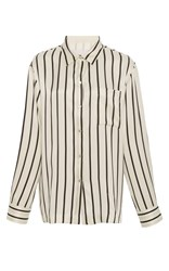 Asceno Jet Black Stripe Pajama Top