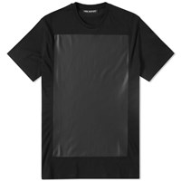 Neil Barrett Leather Panel Tee Black