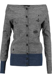 Vivienne Westwood Oasis Distressed Wool Cardigan Gray