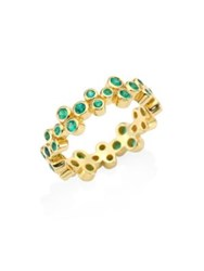 Temple St. Clair Trio Eternity Emerald Ring Yellow Gold
