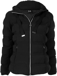 Emporio Armani Ea7 Belted Puffer Jacket Black