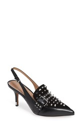Linea Paolo Cecilia Slingback Pump Black Leather