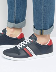 Tommy Hilfiger Denzel Leather Trainers Navy