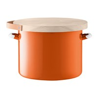 Lsa International Utility Bread Bin And Ash Board Pumpkin Orange