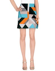 Msgm Skirts Knee Length Skirts Women Turquoise