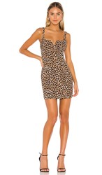 Likely Leopard Constance Dress In Brown.