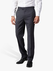Chester Barrie By Micro Puppytooth Travel Suit Trousers Grey