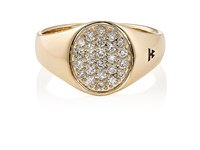 Tom Wood Women's Mini Signet Oval Ring Gold