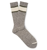Anonymous Ism Marled Cotton Blend Socks Neutrals