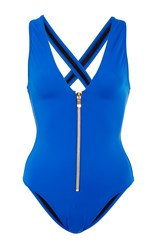 Oye Lana Zipper One Piece Royal Blue