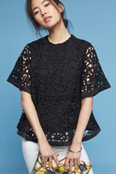 Anthropologie Clermont Swing Top Black