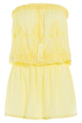 Melissa Odabash Fruley Bandeau Dress Yellow