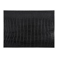 Amara Gator Recycled Leather Placemat Slate