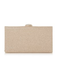 Roland Cartier Briana Oval Diamante Clasp Clutch Bag Gold