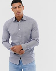 Selected Homme Slim Fit Easy Iron Smart Gingham Shirt In Navy