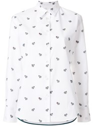 Paul Smith Ps By Embroidered Zebra Shirt White