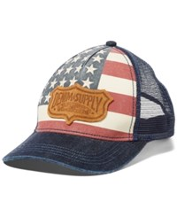 Denim And Supply Ralph Lauren Men's Flag Trucker Hat Indigo