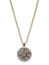 Alexander Mcqueen Crystal Embellished Ball Necklace Gold