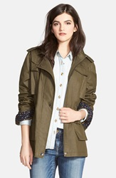 Laundry By Design Waxed Field Jacket With Detachable Hood Martini
