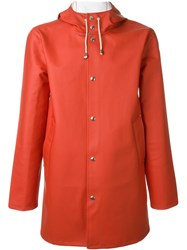 Stutterheim Hooded Raincoat Red