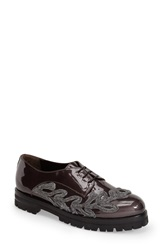 Attilio Giusti Leombruni Applique Oxford Women Coal Patent Leather