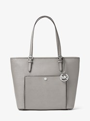 Michael Michael Kors Jet Set Travel Large Leather Tote Grey