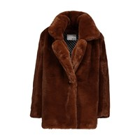 Each X Other Fake Fur Coat Camel