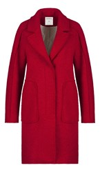 Sandwich Red Wool Coat Poppy