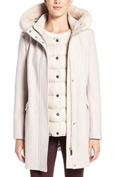 Ivanka Trump Women's Faux Fur Trim Parka With Down Puffer Vest