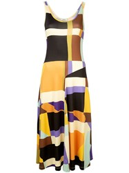 Goen.J Geometric Pattern Dress Multicolour