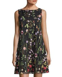 Tahari By Arthur S. Levine Floral Embroidered Sheath Dress Multi