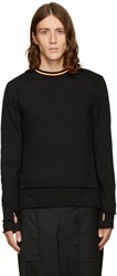 Facetasm Black Layered Pullover