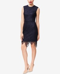 Betsey Johnson Lace Sheath Dress Navy