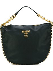 Moschino Chain Trim Tote Black