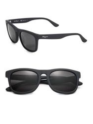 Salvatore Ferragamo 54Mm Matte Wayfarer Sunglasses Dust Black