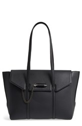 Mackage Barton Leather Tote Black Black Gunmetal