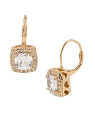 Betsey Johnson Square Drop Earrings Gold