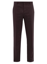 Joseph Jack Slim Fit Tailored Trousers Burgundy