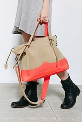 Hunter X Uo Suede Neon Messenger Bag Neutral