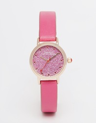 Johnny Loves Rosie Pink Glitter Dial Watch