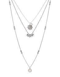 Lucky Brand Layered Necklace Silver