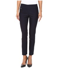 Lisette L Montreal Solid Magical Lycra Ankle Pants Navy Women's Casual Pants