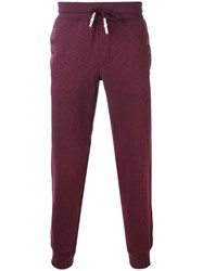 Armani Jeans Cuffed Sweatpants Men Cotton Spandex Elastane Xl Pink Purple