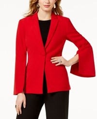 Inc International Concepts I.N.C. Vented Bell Sleeve Blazer Created For Macy's Real Red